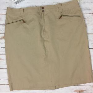 Lauren Ralph Lauren 20W Khaki Beige Casual Skirt